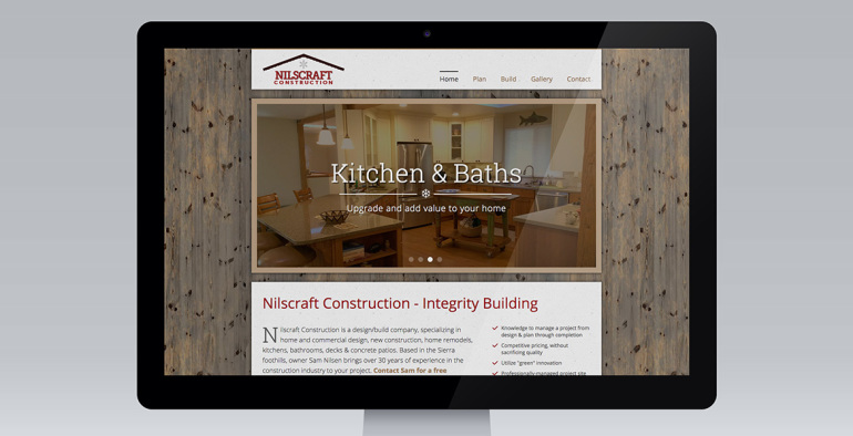 Nilscraft Construction website